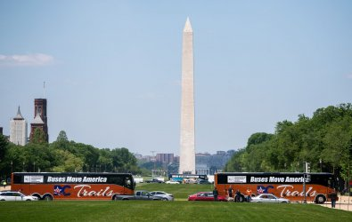 Bus Operators Rally for Assistance in Washington, DC