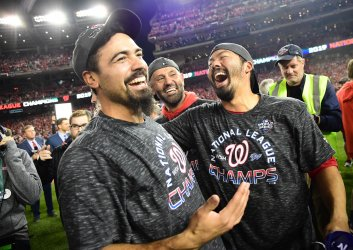 Nats Rendon and Suzuki celebrate in NLCS  in Washington