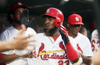 St. Louis Cardinals Marcell Ozuna hits two run home run