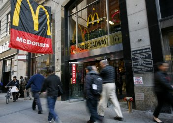 Occupy Wall Street protestors rely on McDonald's restaurant in New York