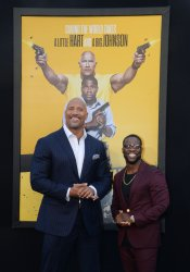 """Dwayne Johnson and Kevin Hart attend the """"Central Intelligence"""" premiere in Los Angeles"""