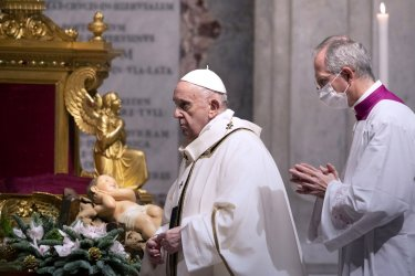 Pope Francis Celebrates Christmas Eve Mass in the Vatican.