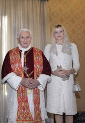 Pope Benedict XVI receives Prince Albert II of Monaco