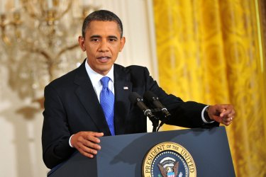 President Obama holds a press conference in Washington