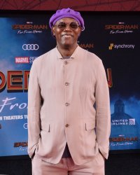 "Samuel L. Jackson attends the ""Spider-Man: Far From Home"" premiere in Los Angeles"