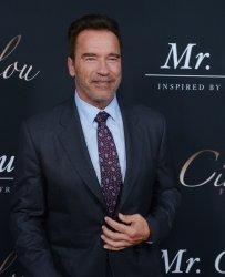 "Arnold Schwarzenegger attends the ""Mr. Church"" premiere in Los Angeles"