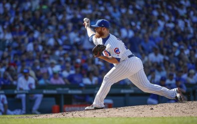 Cubs pitcher Craig Kimbrel delivers at Wrigley Field in Chicago