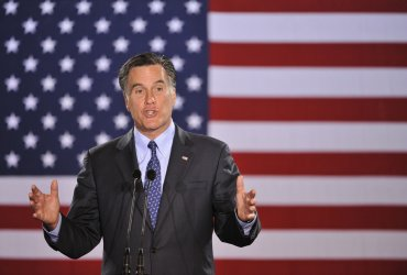 Romney Speaks at Primary Election Night Rally in Miwaukee, Wisconsin