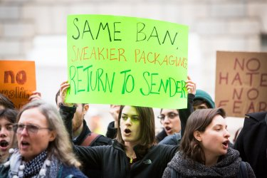 Travel Ban Protest at DC Customs and Boarder Protection Agency