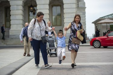 Noah Schumer Leaves Capitol after First Visit