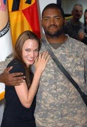 Angelina Jolie visits U.S. Troops in Baghdad