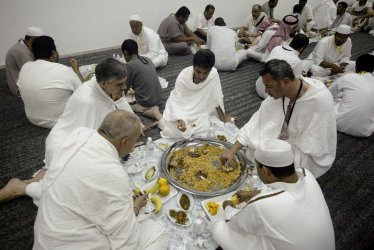 Muslim pilgrims in Mecca for Hajj.