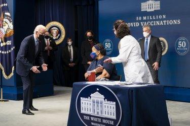 President Biden on the 50 millionth COVID-19 vaccine shot
