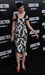 "Lily Collins attends the ""Abduction"" premiere in Los Angeles"