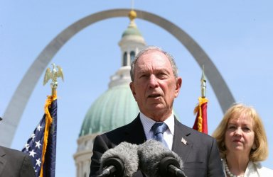 Former New York Mayor Michael Bloomberg in St. Louis