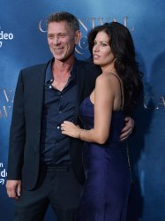 """Jamie Harris and guest attend the """"Carnival Row"""" premiere in Los Angeles"""