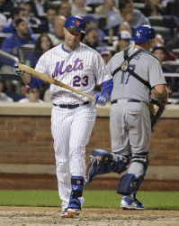 New York Mets Cuddyer strikes out against Dodgers