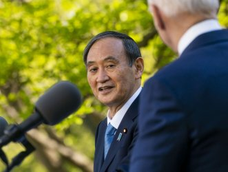 President Biden meets with Yoshihide Suga at the White House