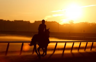 Last Day Preparations at Belmont Park Before The 144th Belmont Stakes in New York City