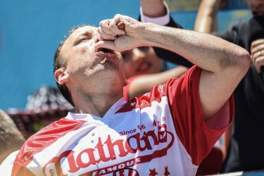 Nathan's Famous Hot Dog Contest on Independence Day