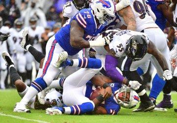 Bills running back LeSean McCoy is tackled