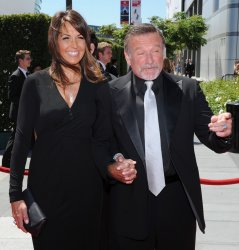 Robin Williams and Susan Schneider arrive at the Creative Arts Emmy Awards in Los Angeles