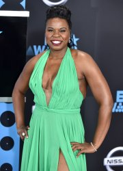 Leslie Jones attends the annual BET Awards in Los Angeles