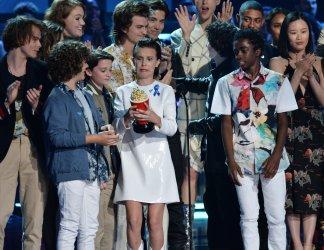 'Stranger Things' wins award at the 2017 MTV Movie & TV Awards in Los Angeles
