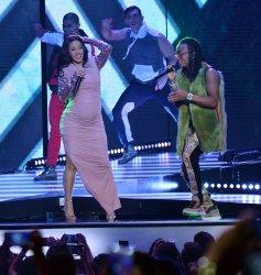 Cardi B and Ozuna perrform at the Billboard Latin Music Awards in Las Vegas, Nevada