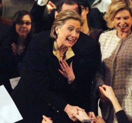 Senator Hillary Clinton attends fund raising rally in New York