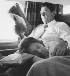 Ronald and Nancy Reagan on campaign trail in 1976