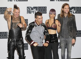 DNCE arrive in the press room at MTV Awards