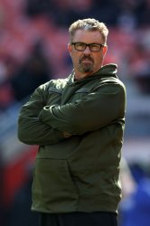 Cleveland Browns head coach Gregg Williamsduring game against Falcons