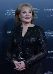 Barbara Walters appears backstage at the 39th annual Daytime Emmy Awards in Beverly Hills, California..