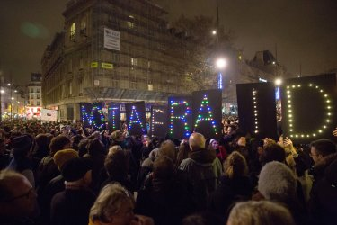 Rally after terror attack in Paris