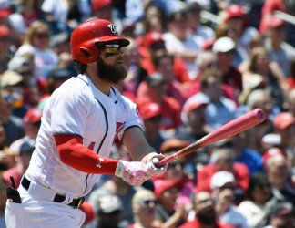 Nationals Bryce Harper Hits Home Run in First Inning