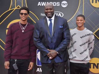 Shareef O'Neal, Shaquille O'Neal, and Shaqir OÕNeal attend the 2019 NBA Awards in Santa, Monica, California