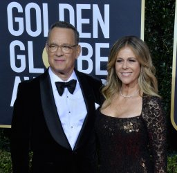 Tom Hanks and Rita Wilson attend the 77th Golden Globe Awards in Beverly Hills