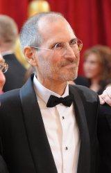Steve Jobs arrives at the Academy Awards in Hollywood