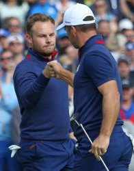 Tyrrell Hatton and Paul Casey at the Ryder Cup 2018