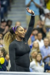 Serena Williams celebrates her win at the US Open