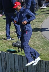 Tiger Woods at the Ryder Cup 2018