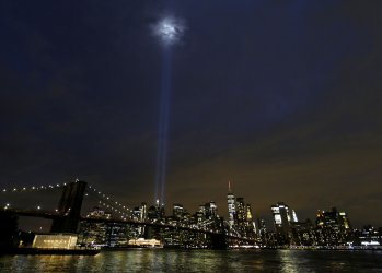 Tribute in Lights in New York on Eve of 9/11 in New York