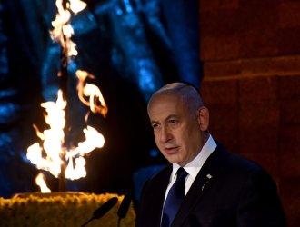Israeli Prime Minister Benjamin Netanyahu Speaks At Holocaust Remembrance Day