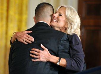 Jill Biden at the White House Community College Summit in Washington