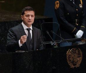 President Ukraine Volodymyr Zelenskyy speaks at UN GA