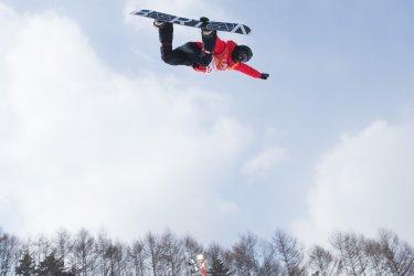 Shaun White in Men's Halfpipe qualification at Pyeongchang 2018 Winter Olympics