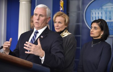 Pence briefs press on coronavirus task force meetings