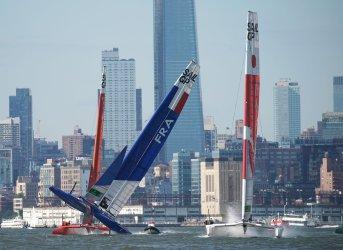 New York SailGP on the Hudson River in New York