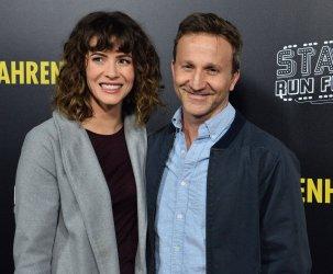 """Breckin Meyer and Deborah Kaplan attend the """"Fahrenheit 11/9"""" premiere in Beverly Hills"""